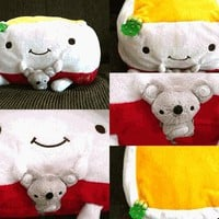 Hannari Tofu Big Cushion New Year Decoration Tofu With Mouse