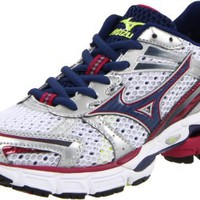 Mizuno Women`s Wave Inspire 8 Narrow Running,White/Blue Depths/Sangria,10.5 2A US