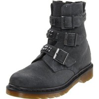 Dr. martens Women`s Hayley Motorcycle Boot,Charcoal,5 UK (US Women`s 7 M)