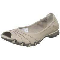 Skechers Women`s Bikers-Scrunchy Ruched Open-Toe Skimmer,Taupe,7.5 M US