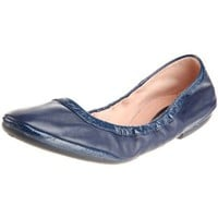 Bloch London Women`s Giselle Roll Up Ballet Flat,Blue Vial,42 EU/12 M US