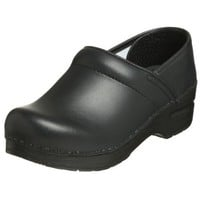 Dansko Women`s Professional Box Leather Clog,Black,38 EU / 7.5-8 B(M) US