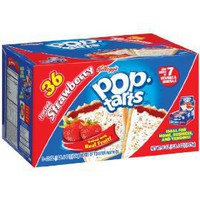 Pop-Tarts Toaster Pastries, Frosted Strawberry, 36-Count Box