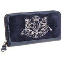 Juicy Couture Zip Wallet,Navy,One Size