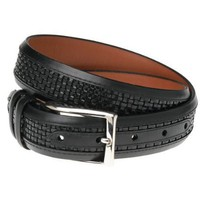 Allen Edmonds Men`s Woven Inlay Belt,Black/Black,38&quot; Waist
