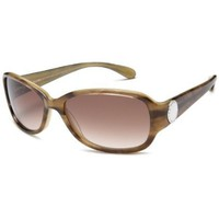 Marc by Marc Jacobs Women`s MMJ 022/S Rectangular Sunglasses,Olive Tortoise Frame/Brown Gradient Lens,one size