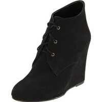 Candela N.Y.C. Women`s Wedge Heel Bootie,Black,7.5 M US