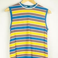 70s Striped Top | M