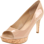 Via Spiga Women`s ALEXIS Peep-Toe Pump,Nude Patent,8.5 M US