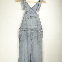 Light Denim Dungarees | M