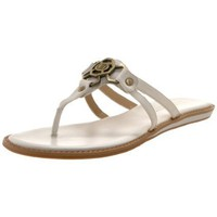 Circa Joan & David Women`s Xyla Thong Sandal,White,11 M US