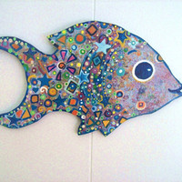 Big Eyed Fish on wood