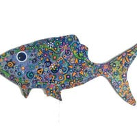 Painted Fish on Wood