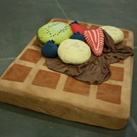 Waffle and Syrup Sheets w/ optional Fruit Pillows