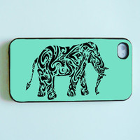 iPhone 4 Case, iPhone 4s Case, iPhone case, iPhone 4 Hard Case : Mint elephant