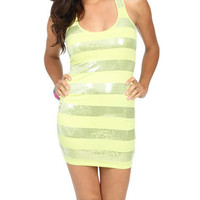 Sequin Stripe Bodycon Dress | Shop Dresses at Wet Seal