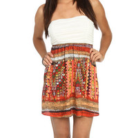 Strapless 2fer Print Dress | Shop Dresses at Wet Seal