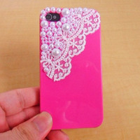 iPhone hard Case cover with pearl for apple iPhone 4 case ,iPhone 4s case,iPhone 4GS case   SJK-2040