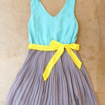 Clearwater Colorblock Dress in Mint [2540] - $37.80 : Vintage Inspired Clothing & Affordable Summer Dresses, deloom | Modern. Vintage. Crafted.
