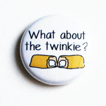 Ghostbusters Buttons Geek Movie Pinback Twinkie Yellow White One Inch