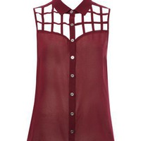 Lipsy Lattice Sleeveless Shirt