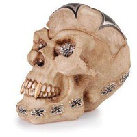 - Iron Cross Skull Polyresin Ashtray - each - Other