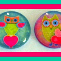 Magnets - Set Of 4 - Owls In Love -.. on Luulla