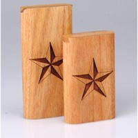 - Slide Top Teak Laser Engraved Nautical Star Large - each - Other