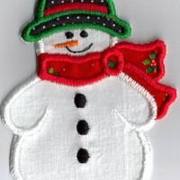 Snowman Christmas applique iron on patch