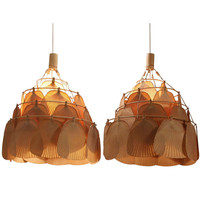 1STDIBS.COM - Bloomberry - Ingo Maurer - Pair Large Uchiwa Fan Lamps by Ingo Maurer