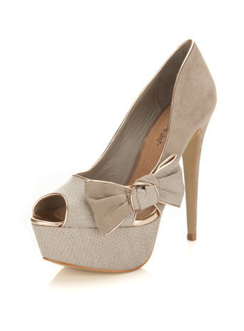 Sasha Grey Side Bow Heel - Shoes - Miss Selfridge US
