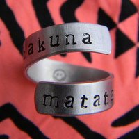 Hakuna Matata ring 1/4 inch