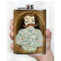 Tattooed Man flask - 8 oz. stainless steel