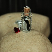 I heart mustache in a bottle by BajoLaLuna on Etsy