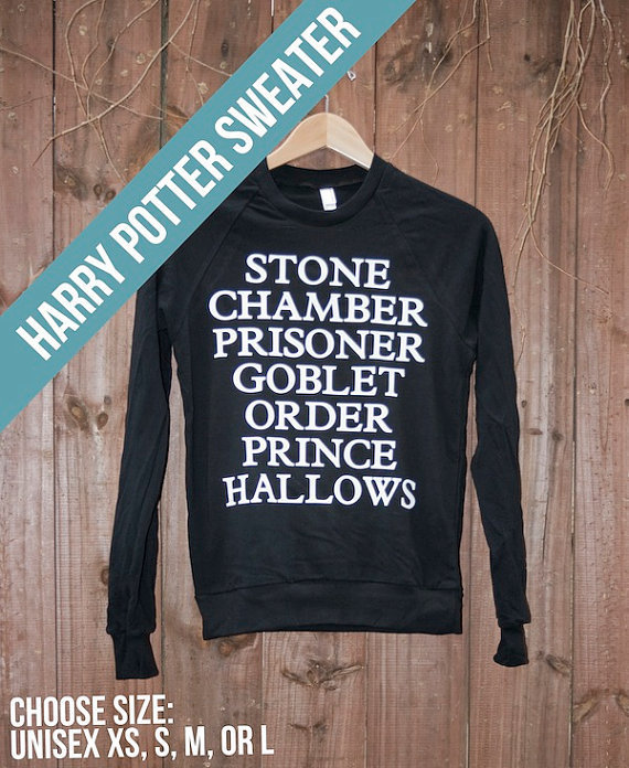 Unisex Harry Potter Sweater - Choose Size - MADE TO ORDER - American Apparel