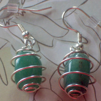 Green Jade nuggets earrings