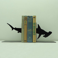 Hammerhead Shark Bookends - Free USA Shipping