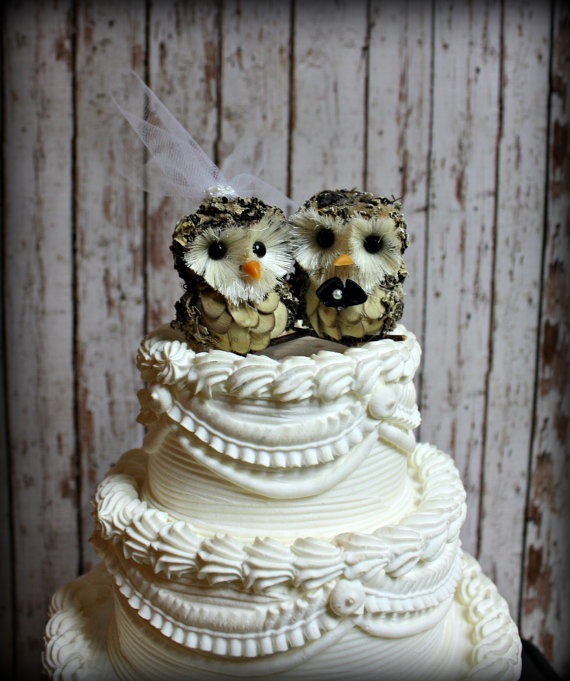 Owl Wedding Cake Topper Owls Woodlands From