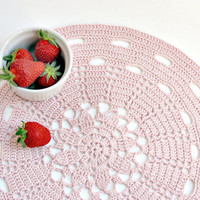 Dust Pink Placemat - Doily Series -.. on Luulla