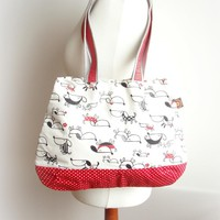Red Dogs Shopper Tote on Luulla