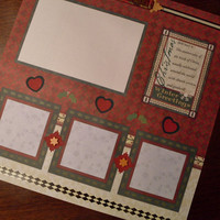 Premade Christmas 12 x 12 Scrapbook Page Layout - Christmas in July (CIJ)