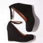 UrbanOutfitters.com &gt; Jeffrey Campbell Suede Platform Wedge Heel