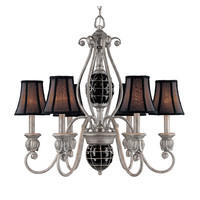 Classic Lighting 71126-AN Catturatto Argento Negro Six-Light Chandelier