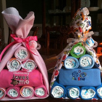 Stork Diaper Bundle Baby Shower Gift Centerpiece