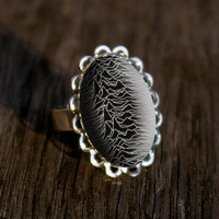 Joy Division silver plated ring