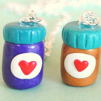 Peanut Butter and Jelly Jars Best Friend Necklaces - Whimsical & Unique Gift Ideas for the Coolest Gift Givers
