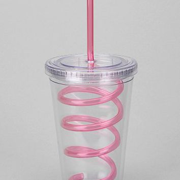 Curly-Straw To-Go Cup