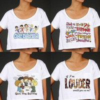 One Direction Themed Crop Top PREORDER