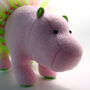 Gertie the Hippopotamus, small, mini, stuffed animal, plush, fleece