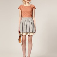 ASOS | ASOS Lace Hem Knitted Skirt at ASOS